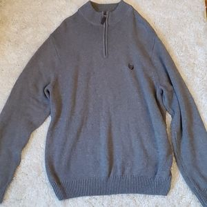 Chaps Gray Sweater Pullover